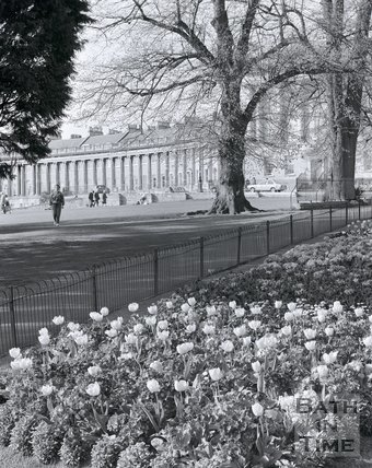 Flowers and the Royal Crescent, Bath, c.2002?