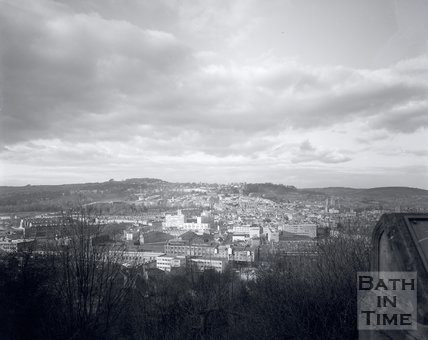 View of Bath from Beechen Cliff, c.1975