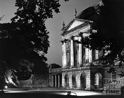 The Holburne Museum under floodlights, c.1973