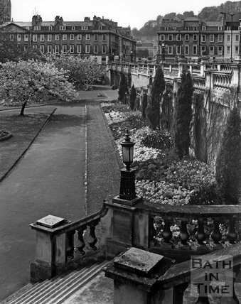 Parade Gardens with North Parade in the background, Bath, c.1973
