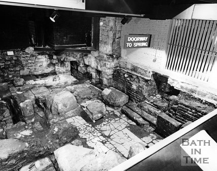 The Roman Baths excavations, c.1980