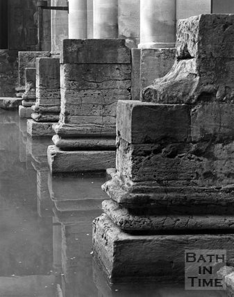 Detail of the Roman Columns in the Roman Baths, c.1973