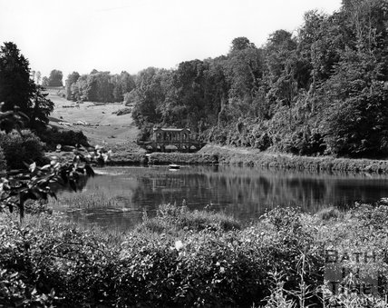 The Palladian Bridge and lake at Prior Park, Bath, c.1973