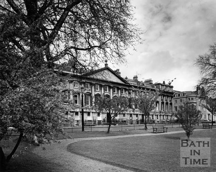 The north side of Queen Square, Bath, c.1973