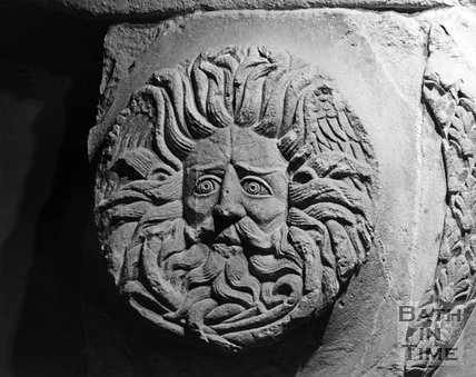 The Gorgon's Head, Roman Baths, c.1973