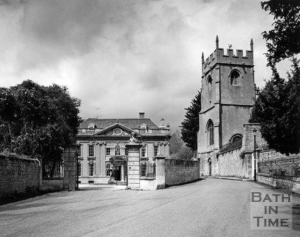 Widcombe Manor and church, Bath, c.1973