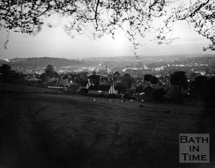 View of Bath from North Road at dusk, c.1972