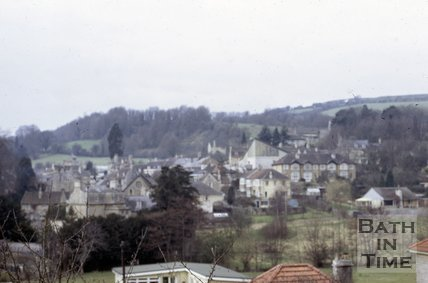 View looking west over Batheaston, near Bath, 1973