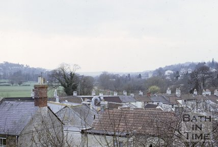 View towards Bathampton Meadows from Batheaston, near Bath, 1973