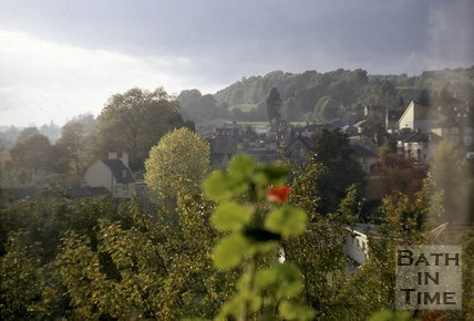 View looking west over Batheaston, near Bath, 1971