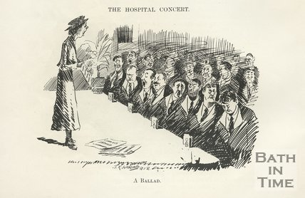 Cartoon of the Hospital Concert, 1917