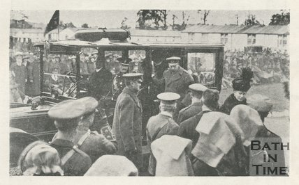 The arrival of King George V and Queen Mary at the Bath War Hospital, 9th November 1917