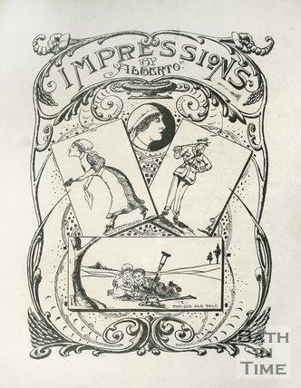 Cartoon of impressions at the Bath War Hospital, 1917