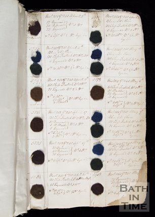 The Wallbridge Mill Dyebook, Book2, Frome, Somerset, c.1809