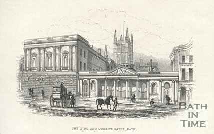 The King and Queen's Bath, Bath, 1841