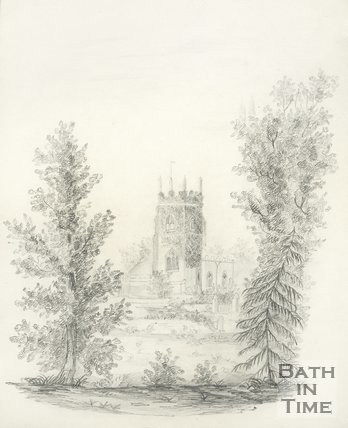 Sketch of the Church of Thomas a Becket, Widcombe, Bath, c.1840s