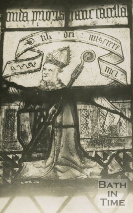 Portrait of Prior John Cantlow from a stained glass window (died 1499 )