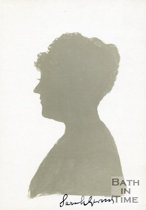 Autographed silhouette of Dame Sarah Grand CBE (1854 - 1943)
