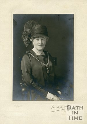 Autographed portrait of Dame Sarah Grand CBE (1854 - 1943)