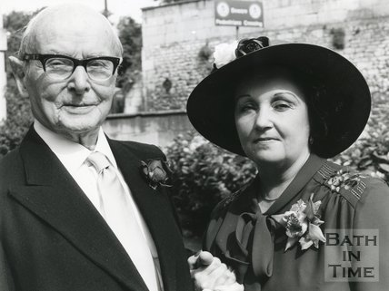 Photograph of Geoffrey Lock (1889-1984) and his second wife Mrs Joyce Stewart-Guant