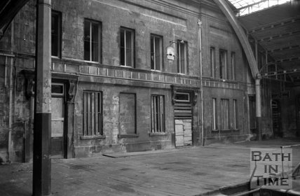 The decaying Green Park Station, Bath, 17 August 1973