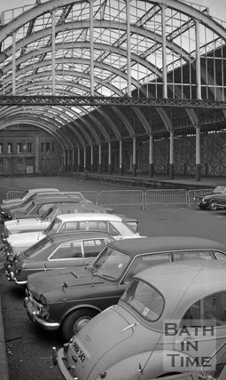Temporary Car Park in Green Park Station, 22 December 1975