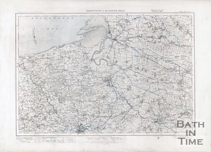 Ordinance survey map of Bridgewater and Quantock Hills, 1931
