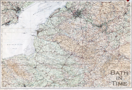 Ordinance survey map of Somerset and Wiltshire, 1913