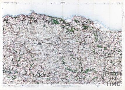Ordinance survey map of Exmoor, 1909