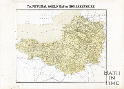 The Pictoral Map of Somersetshire, 1878