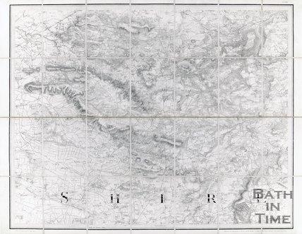 Map of Somerset, 1817