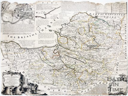 A improved map of Somerset divided into its hundreds, 1785