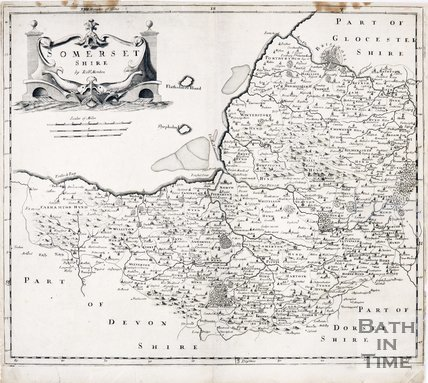 Map of Somersetshire by Robert Mauldon, 1695
