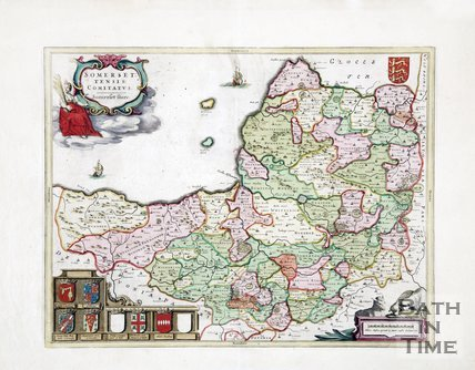 Map of Somersetshire, 1648