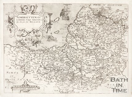 Map of Somersetshire, 1610