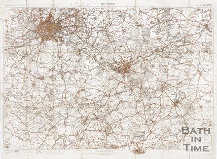 Ordinance survey map of Bath district, 1907