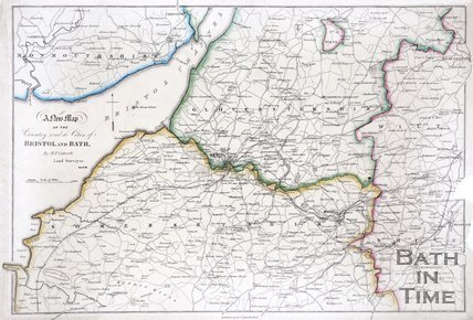 A New map of the country around the cities of Bristol and Bath, 1844/1845