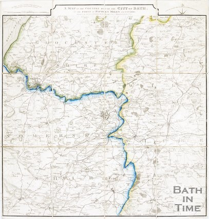 A map of the country around the city of Bath to the extent of 15 miles and upwards, 1835