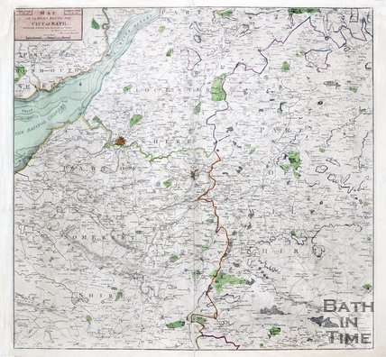 Map of twenty four miles around the city of Bath, 1812