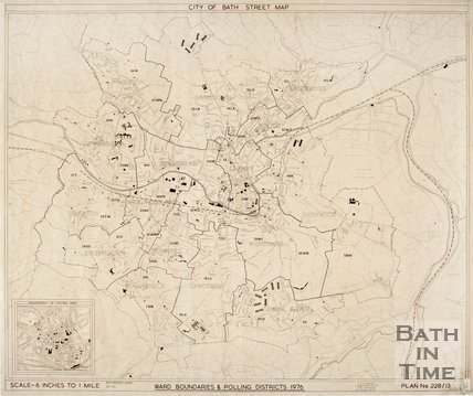 City of Bath Street Map, 1976