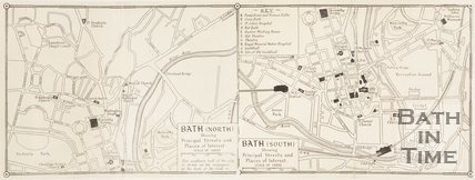 Map of North and South Bath, 1947