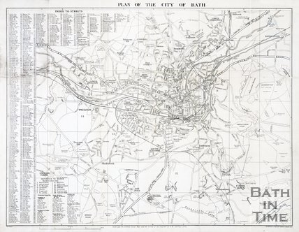 Plan of The City of Bath, 1939