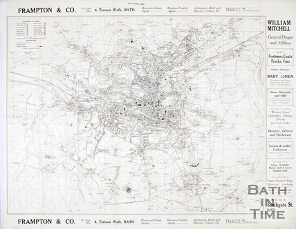 Map of Bath and Surrounding Area, 1927