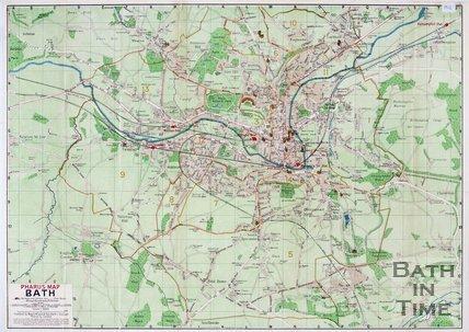 Pharus Map of Bath, 1912