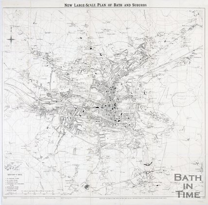 New Large-Scale Plan of Bath and Suburbs, 1907