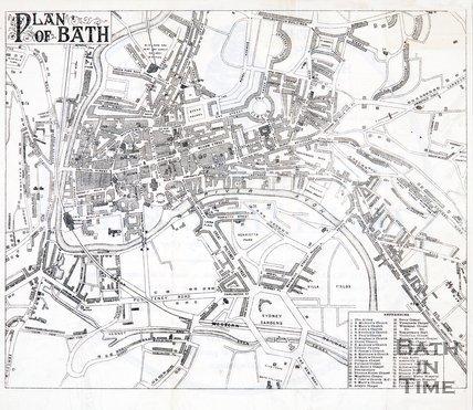 Plan of Bath, 1894