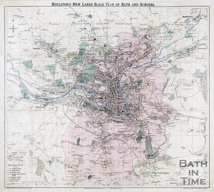 Houlston's New Large-Scale Plan of Bath and Suburbs, 1890