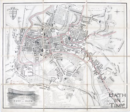 A New and Correct plan of the City of Bath from a recent survey, 1854