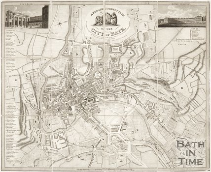 A new and correct plan of the city of Bath, 1840