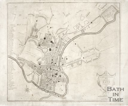 A new and accurate plan of the city of Bath to the present year, 1800